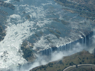 Victoria Falls from plane
