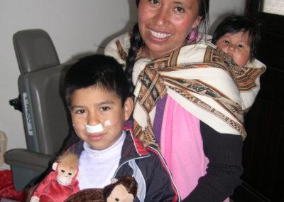 Boy with Stuffed Monkey Animals