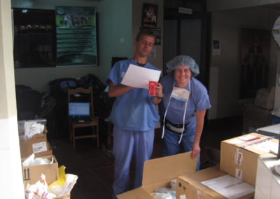 Clare Greene Anes, Technician, with Local Volunteer Starting Inventory for Next Year