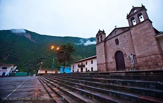 Coya's 300 year old Catholic church in its town square