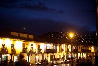 Cuzco's Plaza de Armas at night