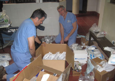 Dr. Alpers and Dr. Hershey Realize once again that giving Anesthesia is a lot more Rewarding than Conducting Inventory