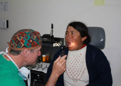 Dr. Brock Conducting an Oral Exam
