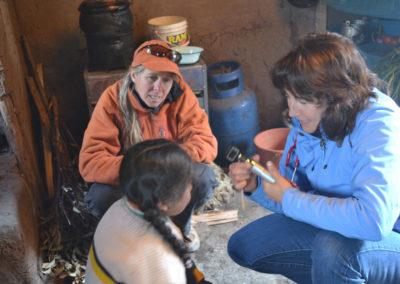 Dr. Brock Visting a Patient in a Distant Village with Nurse Sandra McGirr of DESEA