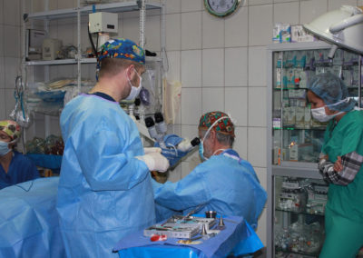 Dr. Brock and Team Members in the Kausay Wasi Clinic Operating Room