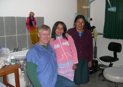 Dr. Brock with Jomira, 4 Year from her Cranioplasty