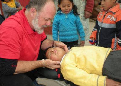 Dr. Coleman Providing an Adjustment