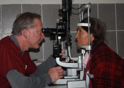 Dr. Holland Conducting an Eye Exam
