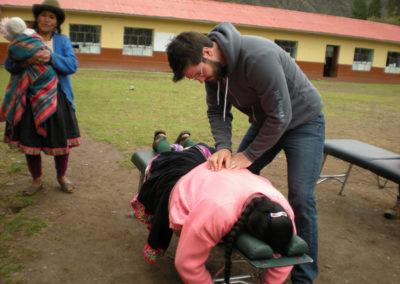 Dr. Komarek Performing a Back Adjustment