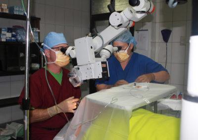 Dr. Saulson Conducting Cataract Surgery