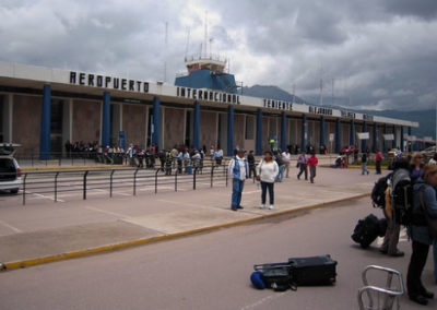 Finally the team arrives at the Cuzco International airport
