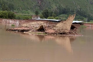 Flooding continues to strike the Urubamba River