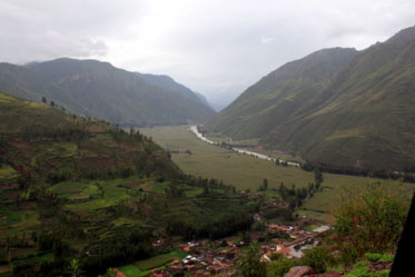 Here is a picture of a village before the flood.
