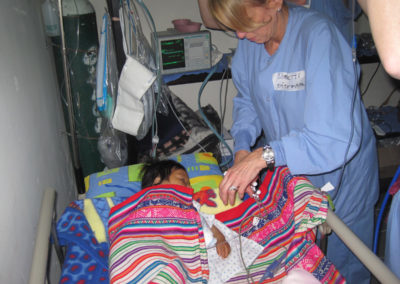 Loretta Nelson Monitoring a Patient After Surgery