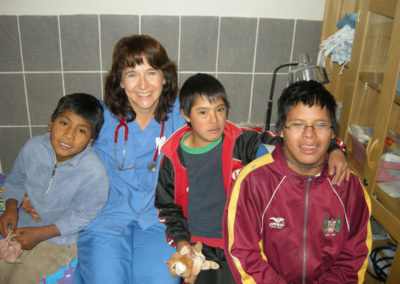 Pediatrician Karoline Brock with Patients