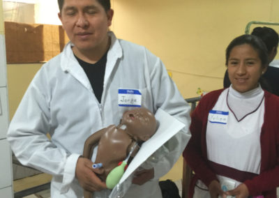 Peruvian Medical Providers with Resuscitation Models