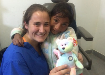 Translator Rachel Brock with Patient
