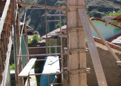 Frames are Made to Form Concrete Columns