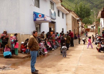 Parents and Children Waiting for their Consultation