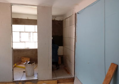 Walls are Installed in the New Bathroom
