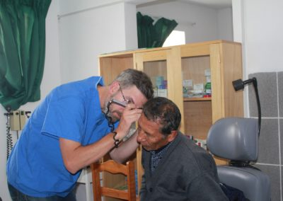 Dr. Steve Long Conducting and Ear Exam