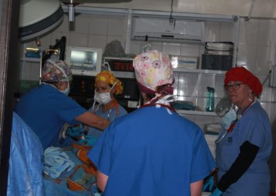 Post Surgical Team Transfering a Patient to the Recovery Room